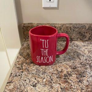 Rae Dunn Red 'Tis The Season Christmas mug